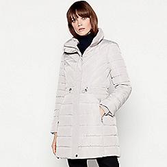 Principles - Silver longline padded coat