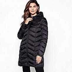Principles - Black Super Light Longline Puffer Coat