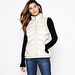 Principles - Off White Super Light Puffer Gilet