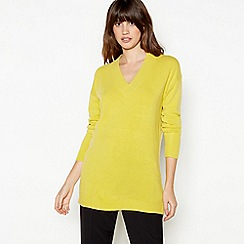 Principles - Lime Green 'Supersoft' V-neck Jumper
