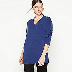Principles - Navy 'Supersoft' V-neck Jumper