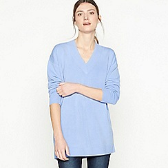 Principles - Blue 'Supersoft' V-neck Jumper