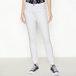 Principles - White Mid Rise Straight Leg Denim Jeans