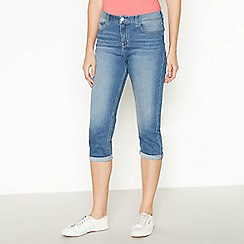 Principles - Light Blue Light Wash Cropped Jeggings