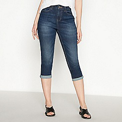Principles - Dark Blue Dark Wash Cropped Jeggings