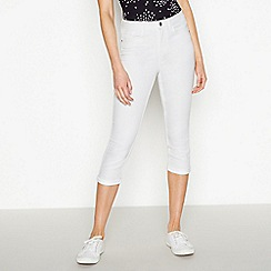 8f8f06a4a8b0c Principles - White mid rise cropped skinny denim jeggings
