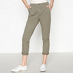 Principles - Khaki Tapered Chino Trousers