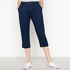 Principles - Navy Cropped Chinos