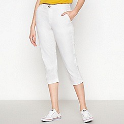 Principles - White Cropped Chinos