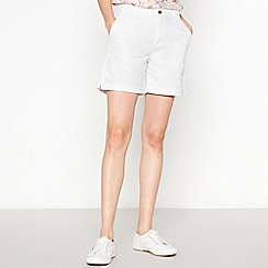 Principles - White Chino Shorts