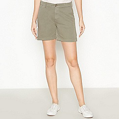 Principles - Khaki Green Chino Shorts