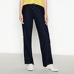 Principles - Navy Wide Leg Trousers