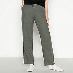 Principles - Khaki Wide Leg Trousers