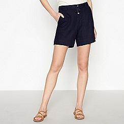 Principles - Navy Linen Blend Shorts