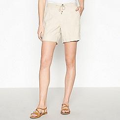 Principles - Natural Linen Blend Shorts