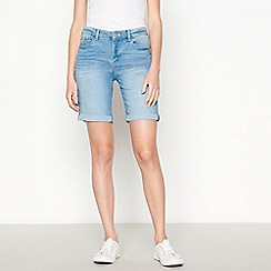 Principles - Light Blue Light Wash Denim Shorts
