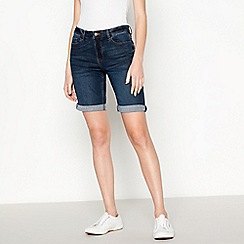 Principles - Dark Blue Mid Wash Denim Shorts