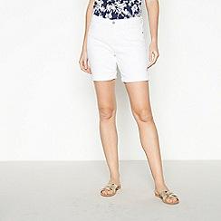 Principles - White Denim Shorts