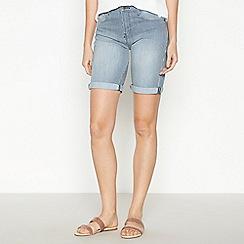 Principles - Navy Striped Denim Shorts