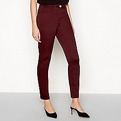 The Collection - Dark purple mid rise jeggings