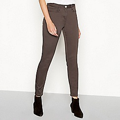The Collection - Khaki mid rise jeggings