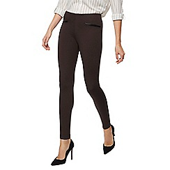 The Collection - Dark brown ponte leggings