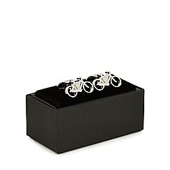 The Collection - Silver bicycle cufflinks