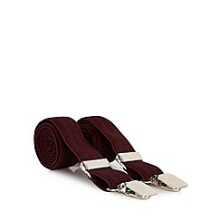 Osborne - Wine slim herringbone braces