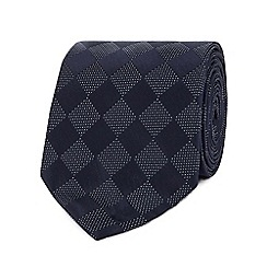 Hammond & Co. by Patrick Grant - Navy silk diamond print tie