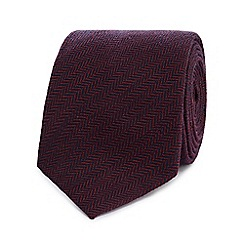 Hammond & Co. by Patrick Grant - Red wool blend plain tie