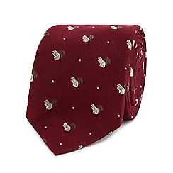 Hammond & Co. by Patrick Grant - Red textured squirrel tie