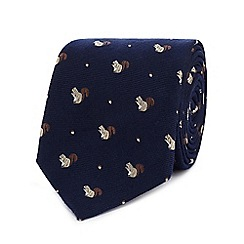 Hammond & Co. by Patrick Grant - Navy textured squirrel tie