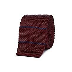 Red Herring - Wine red knitted skinny tie