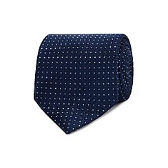 The Collection - Navy dotted silk tie