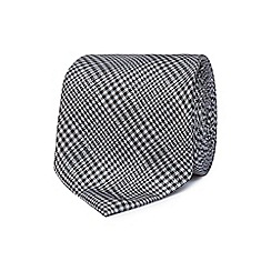 Hammond & Co. by Patrick Grant - Grey checked print silk tie