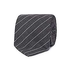 Hammond & Co. by Patrick Grant - Grey stripe tie