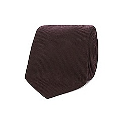 J by Jasper Conran - Wine red textured luxury tie