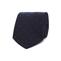 J by Jasper Conran - Navy spot print luxury tie
