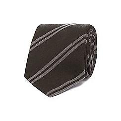 J by Jasper Conran - Khaki double stripe tie