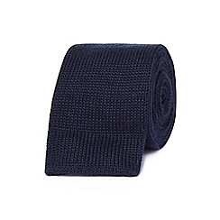 J by Jasper Conran - Navy knitted skinny tie