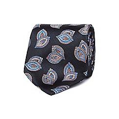 Jeff Banks - Navy patterned silk tie