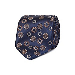 The Collection - Navy floral print tie