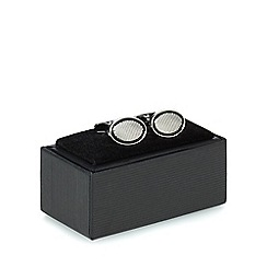The Collection - Silver oval cufflinks in a gift box