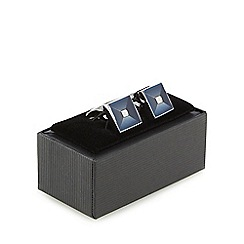 The Collection - Blue square cufflinks