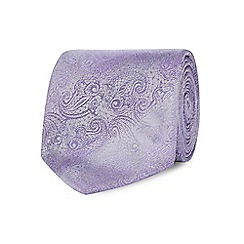 The Collection - Lilac floral textured tie