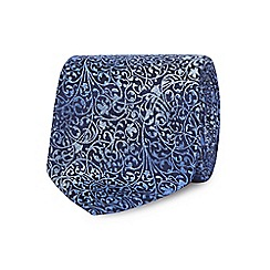 The Collection - Blue floral textured tie