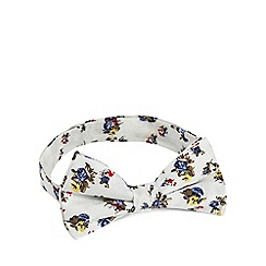 Red Herring - White floral print bow tie
