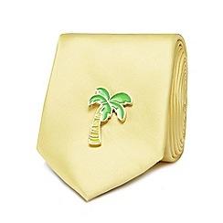 Red Herring - Yellow palm tree pin tie