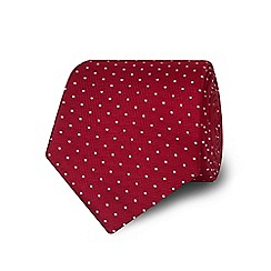 TM Lewin - Dark red spotted silk tie