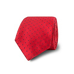 TM Lewin - Red spotted silk tie